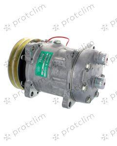 COMPRESSEUR SANDEN 7H15 4653  / 7851 2G 132 mm Rotalock Horizontal MB 12V